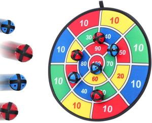 Velcro Dart Board Game with 6 Velcro Balls
