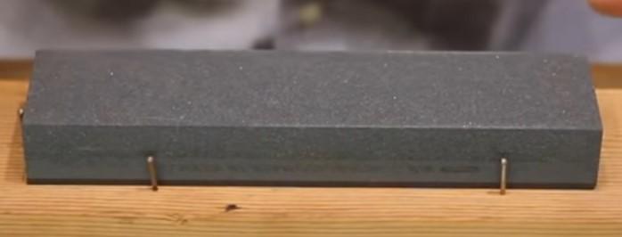 une pierre plate